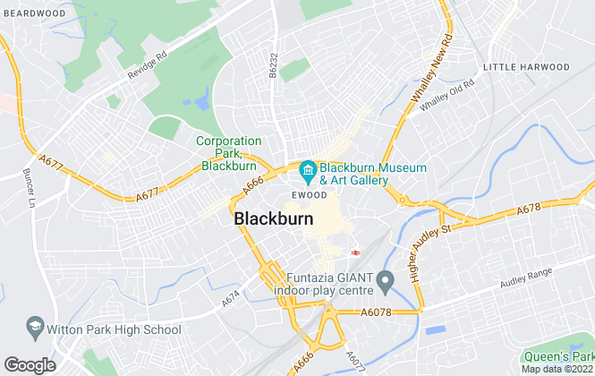 Map for Mortimers Chartered Surveyors, Blackburn