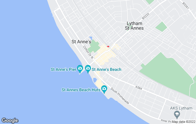 Map for Letting Works, Lytham St Annes
