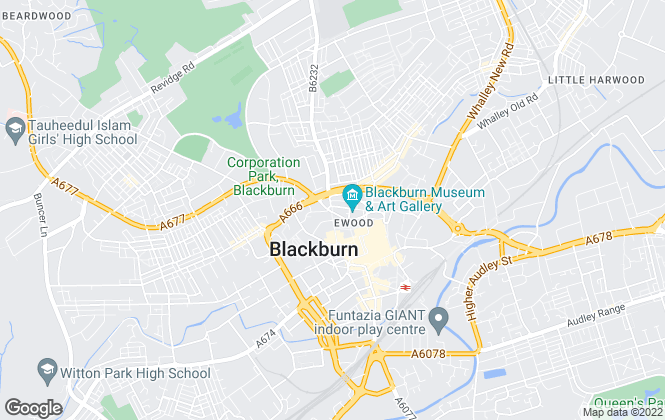 Map for Bridgfords, Blackburn