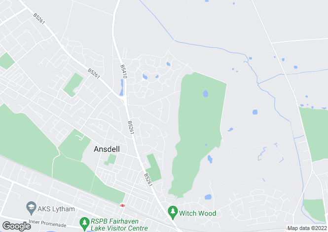 Map for Pennfield, 10 Islay Road, Lytham, Lancashire