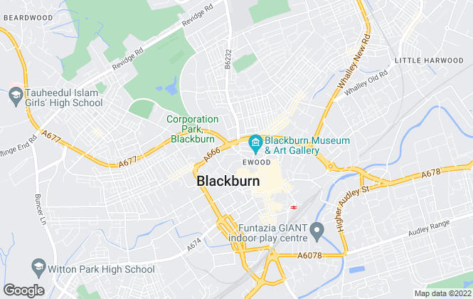 Map for Athertons, Blackburn