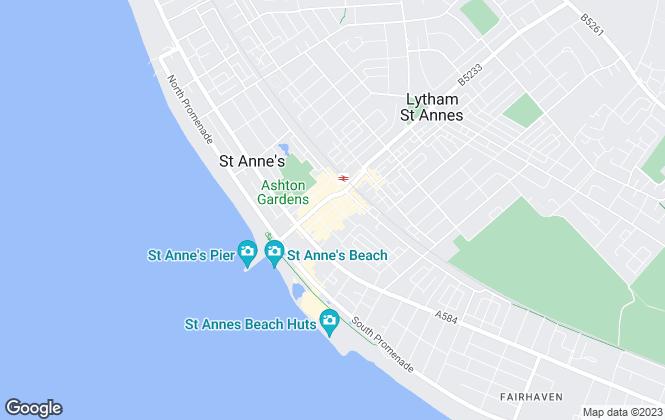 Map for Unique Estate Agency Ltd, Lytham St Annes