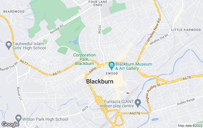Map for Hilary's Estate Agents, Blackburn