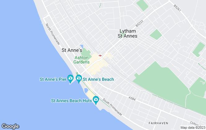 Map for Whitegates, St Annes