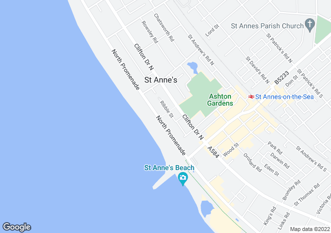 Map for Apartment 1, Nicholl Court, North Promenade, St. Annes, FY8 2NQ