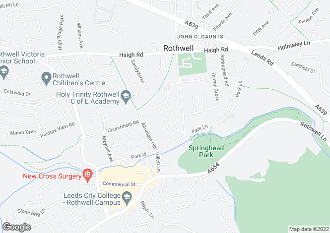 Map for Sandybank Avenue, Rothwell, Leeds LS26