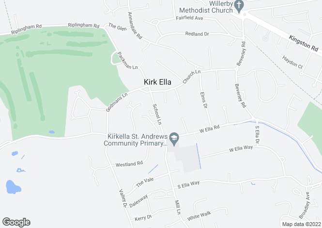 Map for School Lane, Kirk Ella, East Yorkshire, East Riding Of Yorkshire