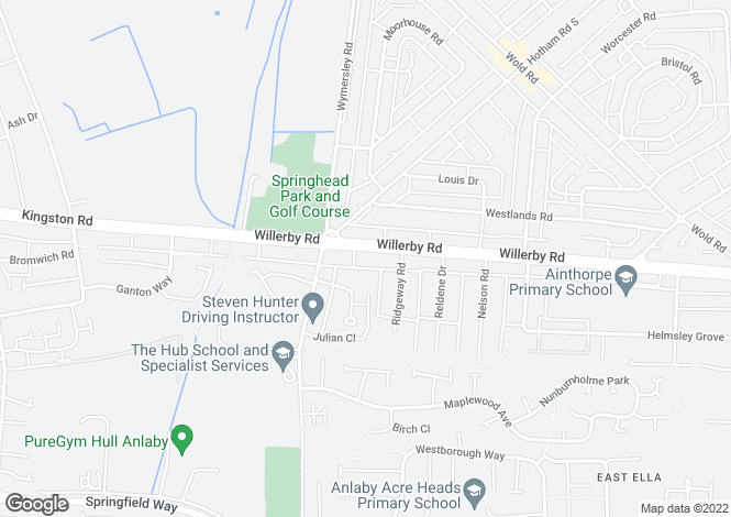 Map for Willerby Road, Hull, East Yorkshire, HU5