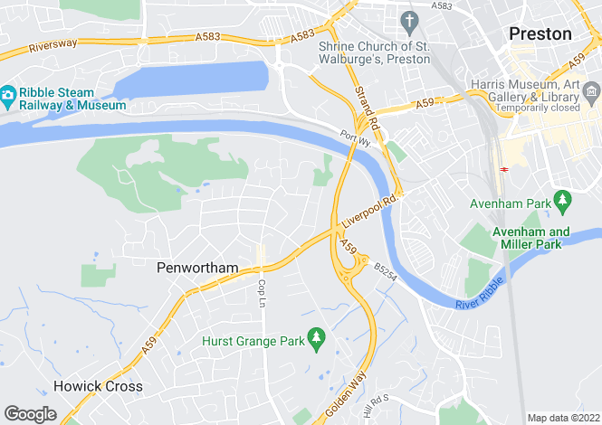 Map for Hollinhurst Avenue, Penwortham