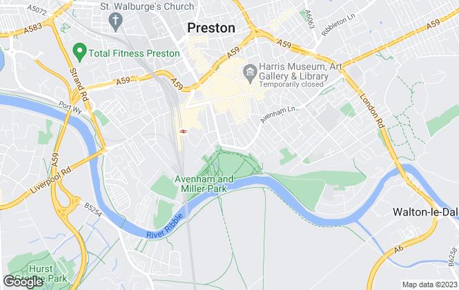 Map for P Wilson & Company, Preston