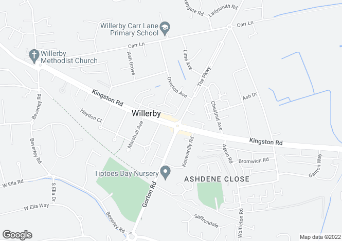 Map for Chestnut Avenue, Willerby HU10