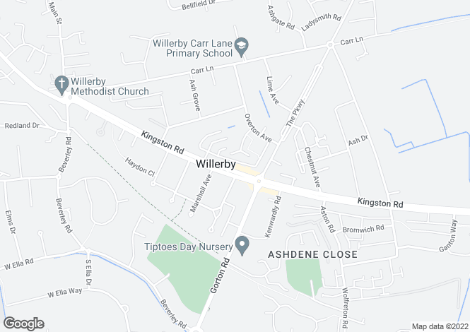 Map for 145, Kingston Road, Willerby, HU10 6AL