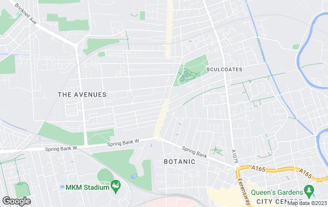 Map for Wardbright Properties, Hull