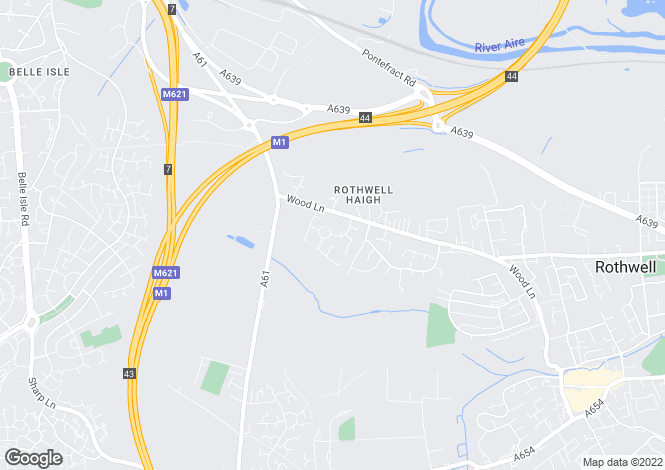 Map for Castle Lodge Avenue, Rothwell, LEEDS, West Yorkshire