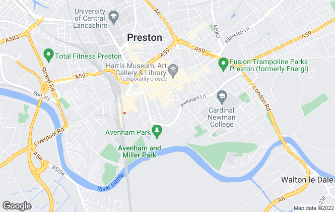 Map for F J H Associates Limited, Preston