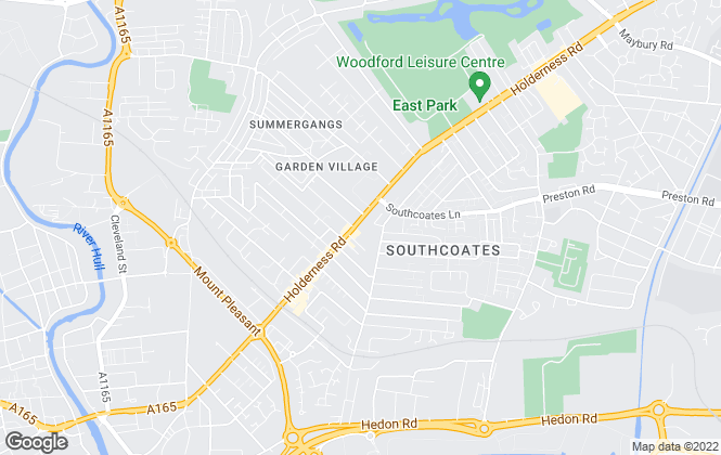 Map for William H. Brown, Hull Holderness Road