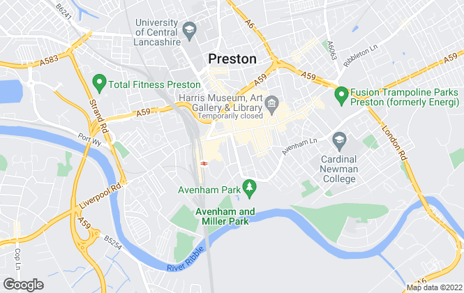 Map for Entwistle Green, Preston