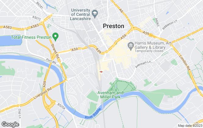 Map for Northwood, Preston