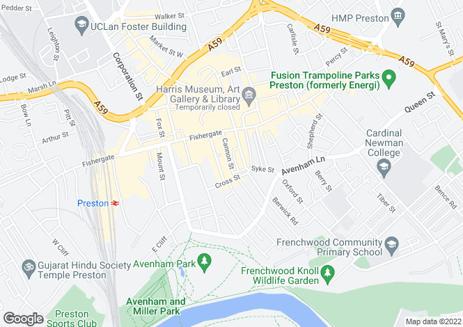 Map for Cannon Street,