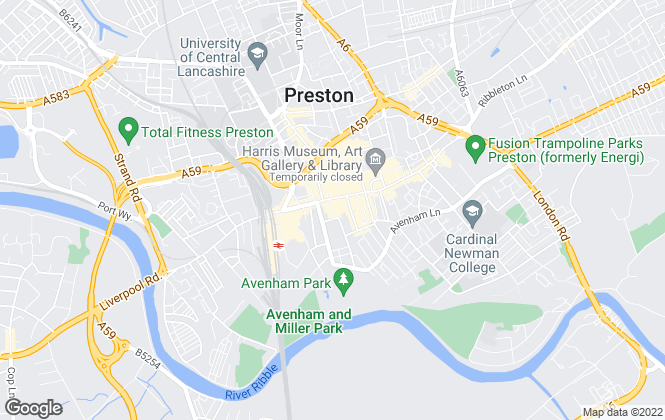 Map for Bridgfords Lettings, Preston