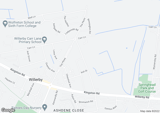 Map for Wolfreton Lane, Willerby, East Yorkshire, HU10