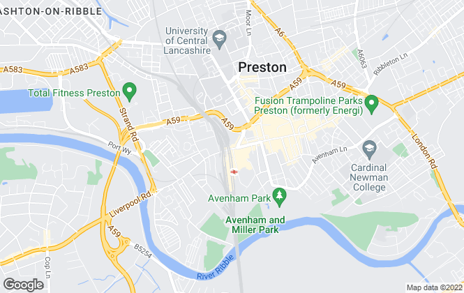 Map for Reeds Rains Lettings, Preston
