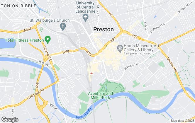 Map for Cumberland Estate Agents Ltd, Preston