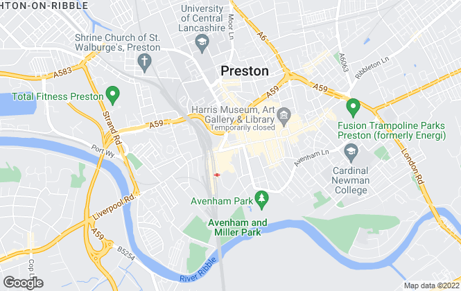 Map for Bridgfords, Preston