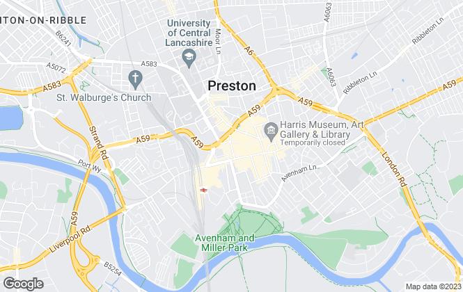 Map for Farrell Heyworth, Preston