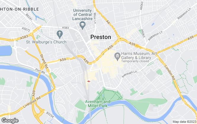 Map for Garside Waddingham, Preston