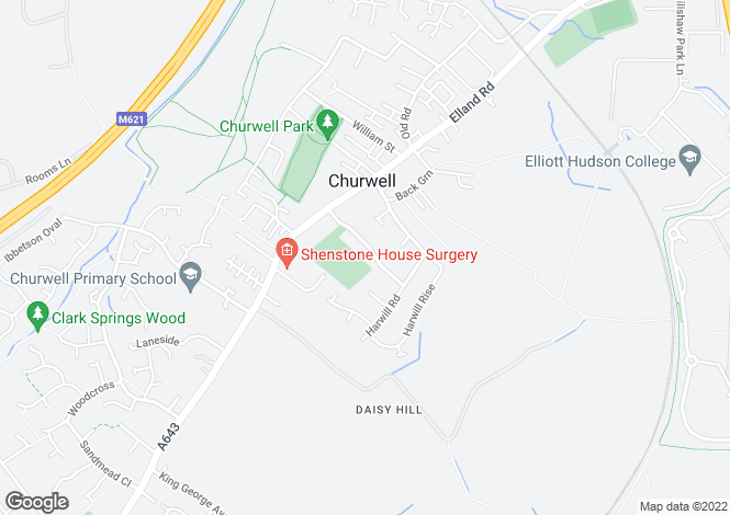 Map for Harwill Avenue, Churwell,Morley, Leeds LS27