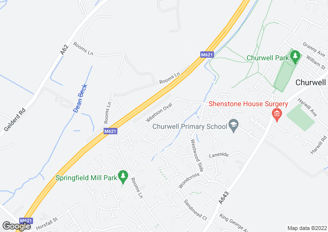 Map for Ibbetson Oval, Churwell,Morley, Leeds LS27