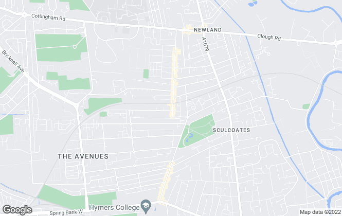 Map for Hunters, Newland Avenue