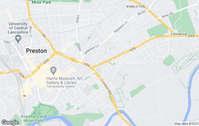 Map for Preston Antique Centre, Preston