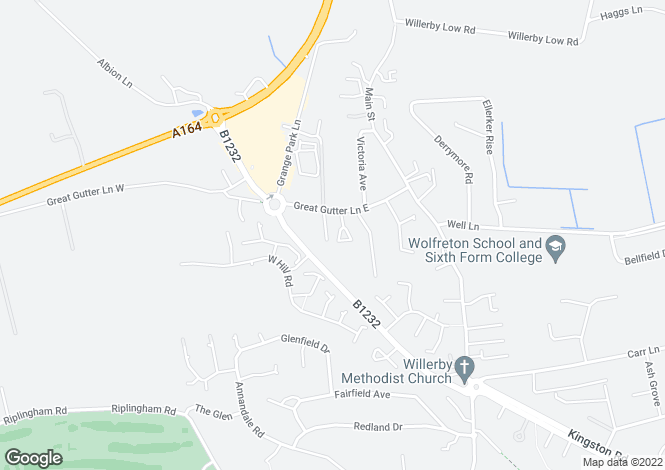 Map for St. Georges Court, Willerby, Hull HU10