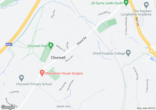 Map for Bradley House Coteroyd Avenue, Churwell,Morley, Leeds LS27