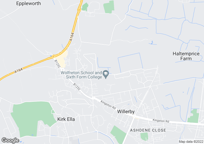 Map for Well Lane, Willerby, Hull