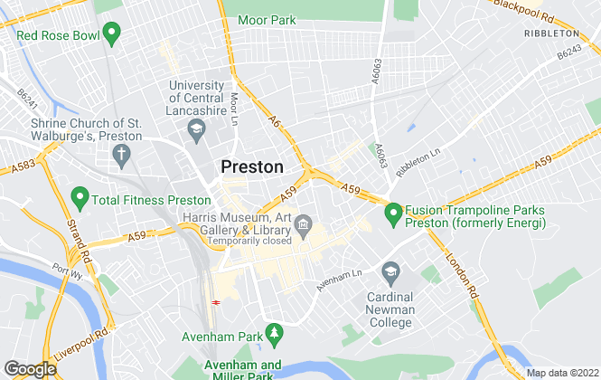 Map for Pearson Ferrier Preston, Preston