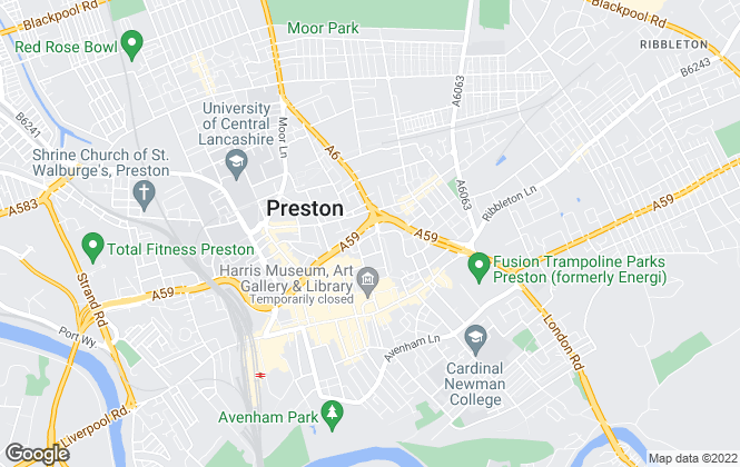 Map for Pearson Ferrier Preston, Preston