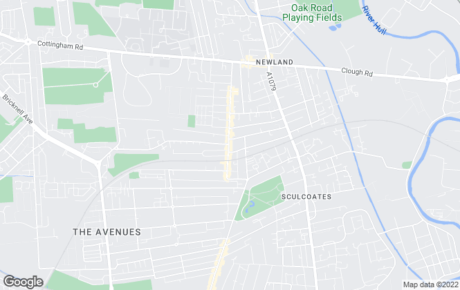 Map for William H. Brown, Hull Newland Avenue