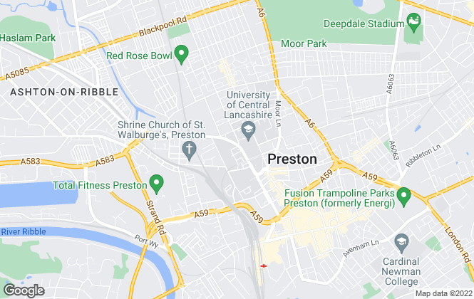 Map for North West Homes Professionals, Preston
