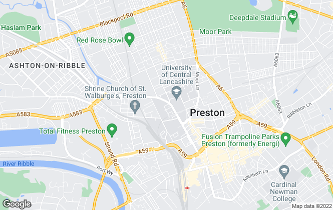 Map for North West Homes, Preston