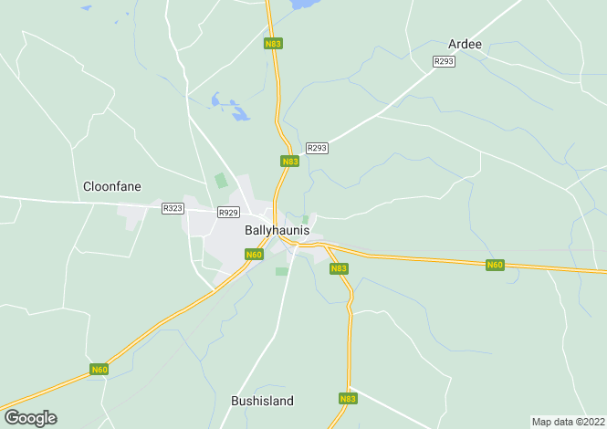 Map for Ballyhaunis, Mayo