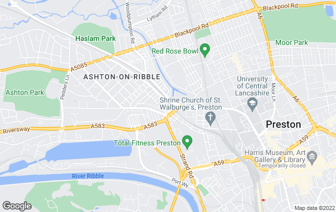 Map for Hornby Lettings, Preston