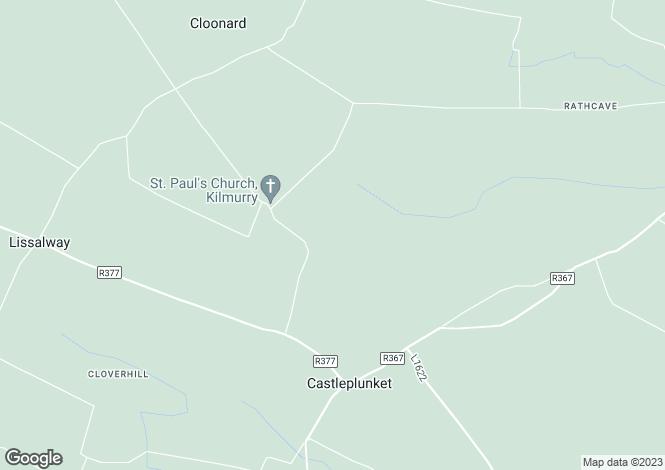 "Map for ""The Cwtch"" Drishaghaun East, Castleplunkett, Roscommon"