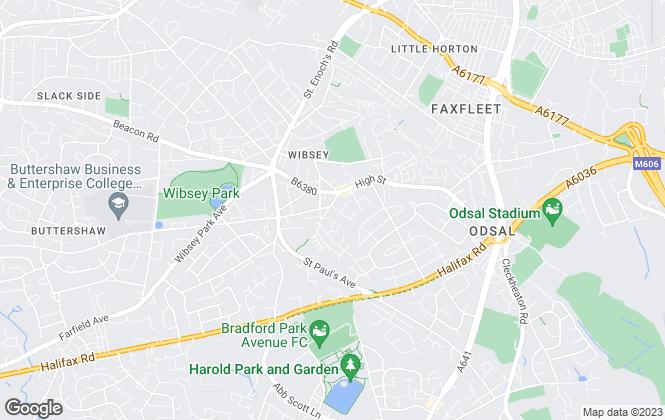 Map for O'Hearne & Partners, Bradford