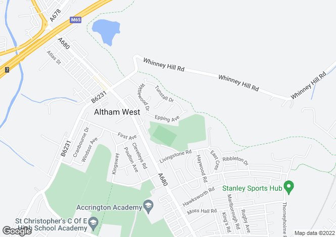 Map for Epping Avenue, Accrington, Lancashire