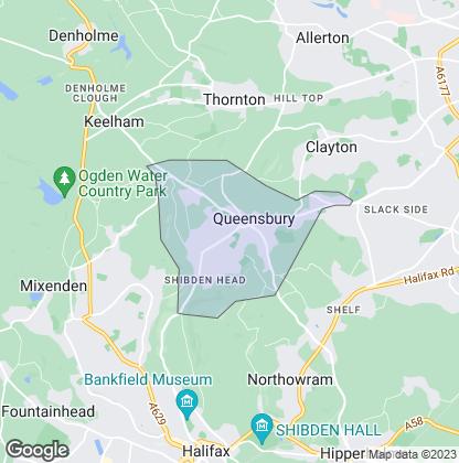 Map of property in Queensbury
