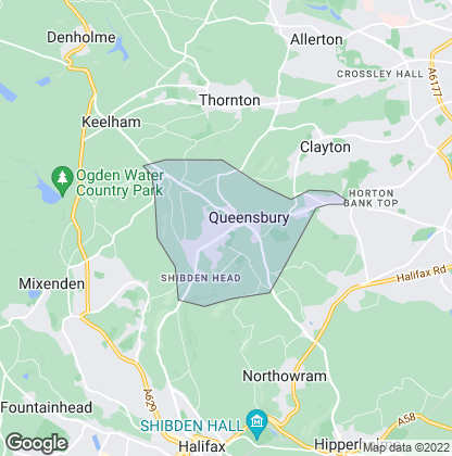 Map of property in Queensbury