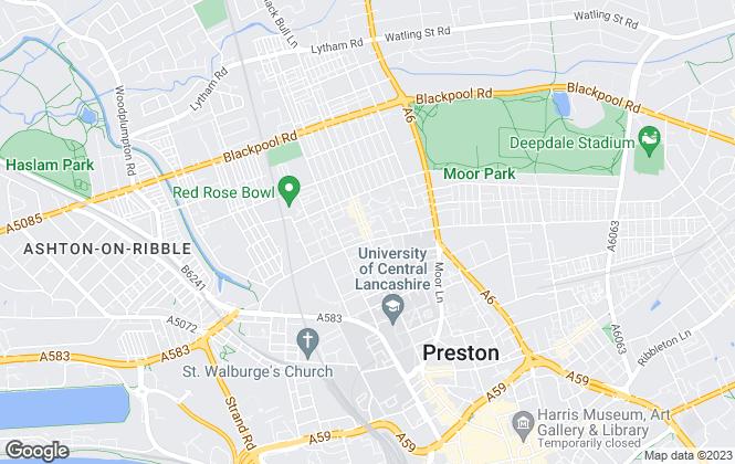 Map for Mark Walsh Estates , Preston